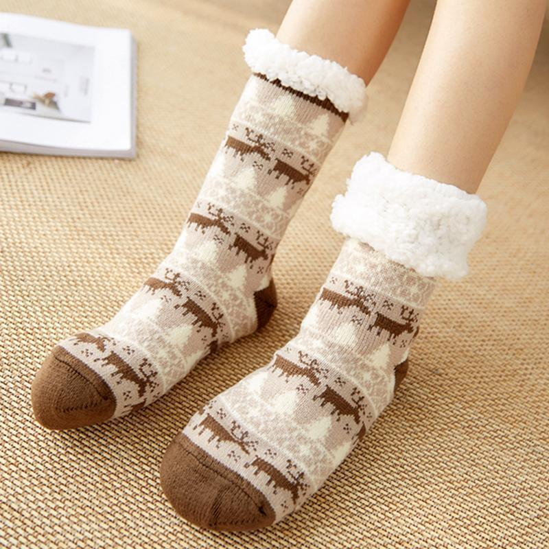 House-stay Extra-warm Fleece Indoor Non-slip Socks