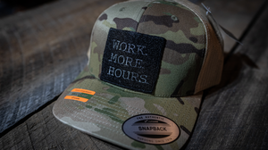 Work More Hours Patch Hat