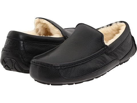 UGG Ascot Leather Moccasin Slipper