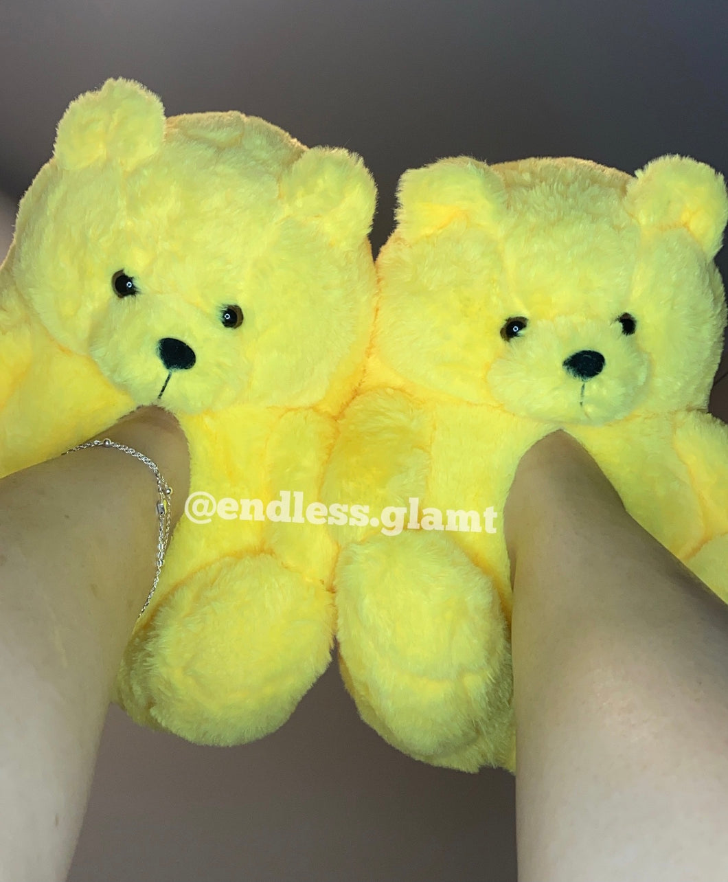 Teddy Bear Slippers | Yellow