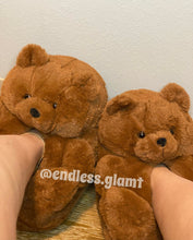 Load image into Gallery viewer, Teddy Bear Slippers | Brown