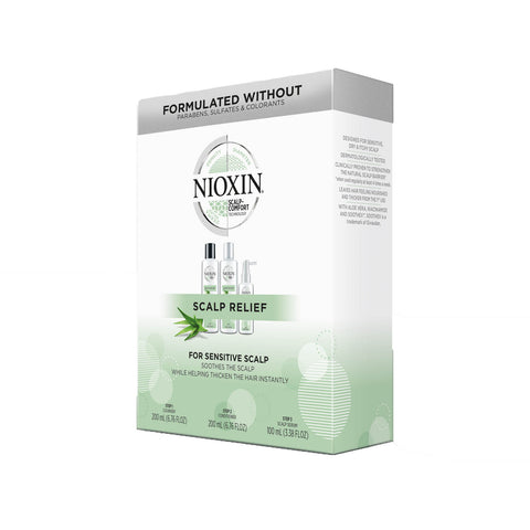 Nioxin Scalp Relief for sensitive scalp trio