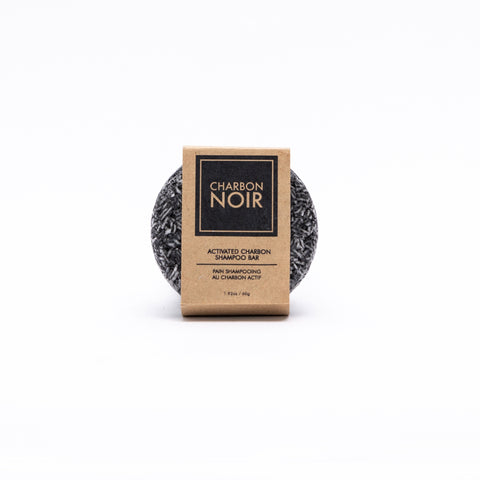 Charbon Noir organic activated charcoal shampoo bar