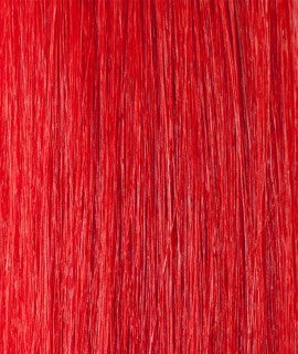 Kathleen keratin hair extensions 20-22 inches color : RED