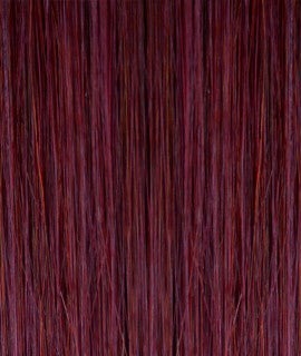 Kathleen keratin hair extensions 20-22 inches color : BURG