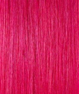 Kathleen keratin hair extensions 20-22 inches color : FUXIA