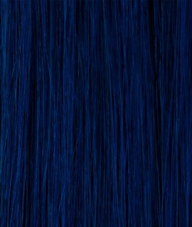 Kathleen keratin hair extensions 20-22 inches color : BLUE
