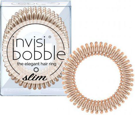 Invisibobble Slim élastique or rose