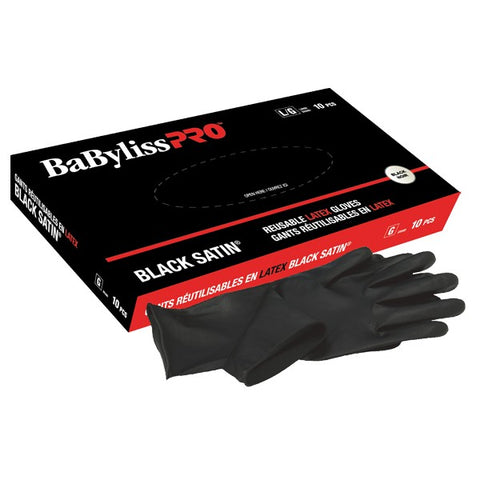 Babyliss Pro Black Satin gants réutilisables en latex