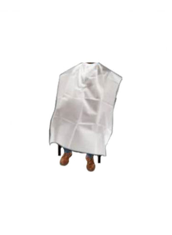 Disposable white cape individually