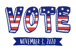 BULK - VOTE NOVEMBER 3, 2020 - (Contains 250 postcards, no addresses)