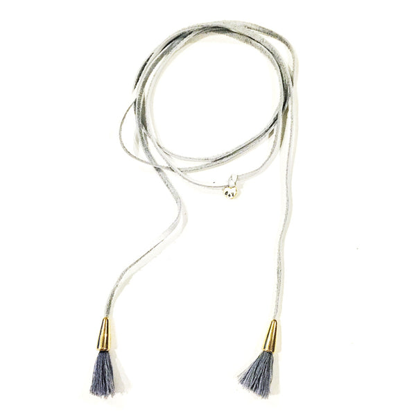 ALDRIN WRAP CHOKER- cotton white
