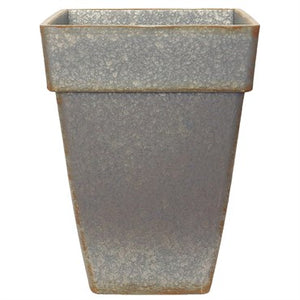 Grower Select® Euro Square Plastic Planter (Fused Rim) Gray