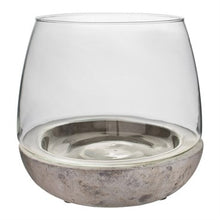 Load image into Gallery viewer, Syndicate Home & Garden® Mixed Material Terrarium Cement & Glass