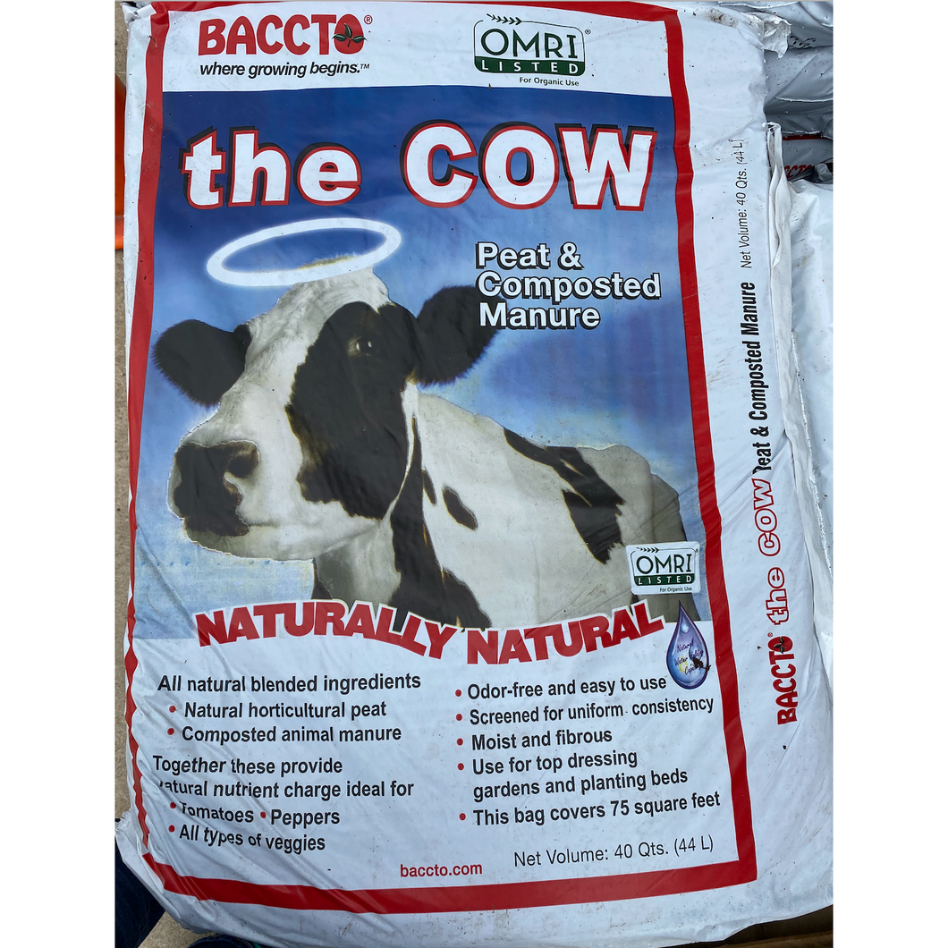 Baccto's 'The Cow' Manure 40 QT Bag