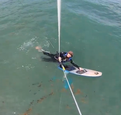 Tips and Tricks: How to Water-Start on Kite Foil in Onshore Wind