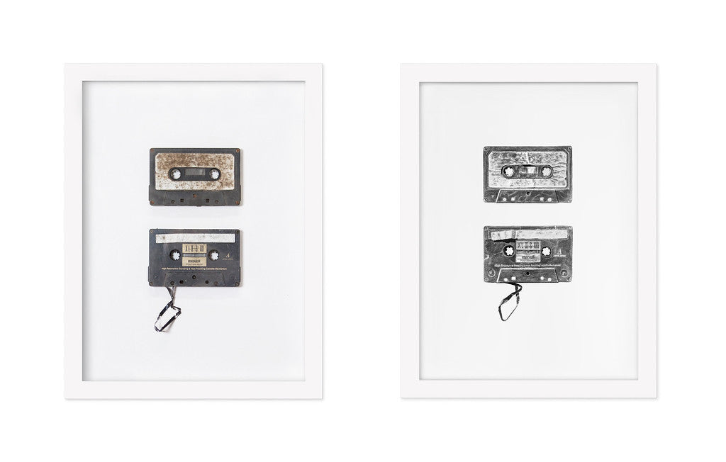"""Found Objects #6 & #7 (Cassettes)"""