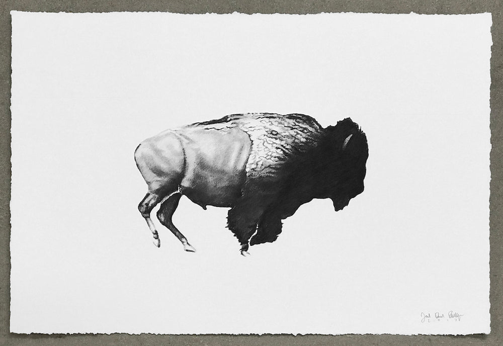 """Then Your Prairies Will Be Covered In Speckled Cattle, #16 (After Eadweard Muybridge, 1883)"""