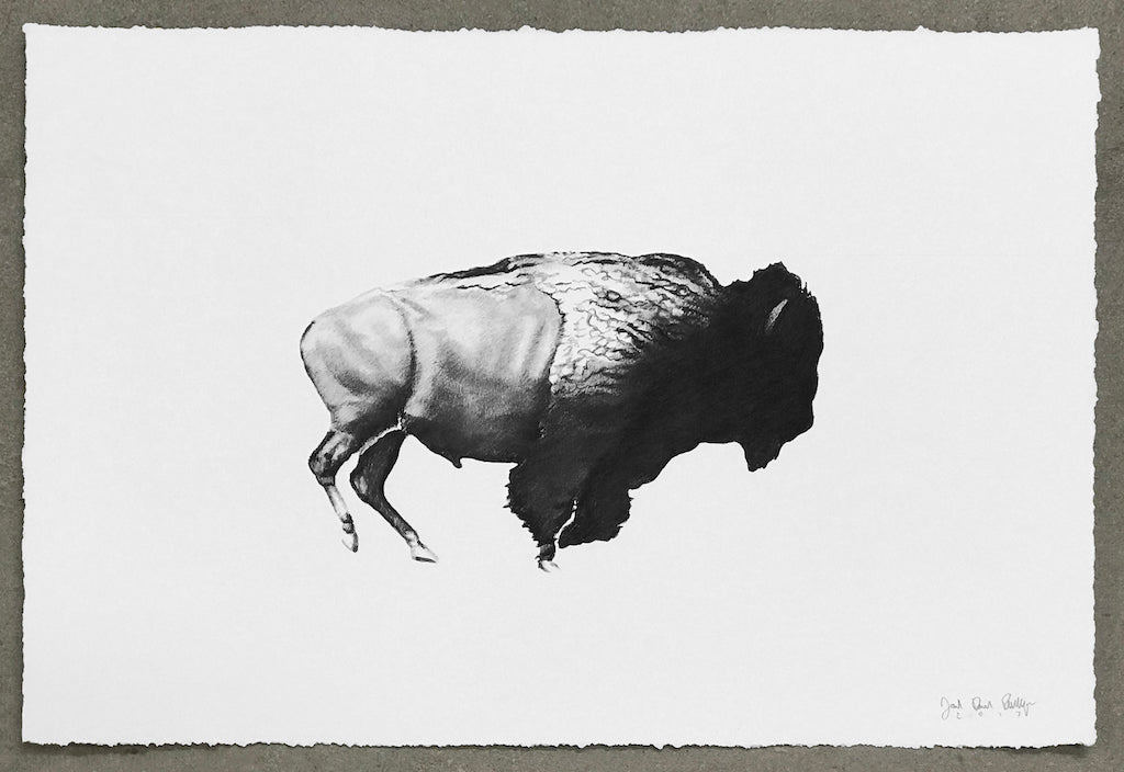 "Joel Daniel Phillips - ""Then Your Prairies Will Be Covered In Speckled Cattle, #16 (After Eadweard Muybridge, 1883)"" print"