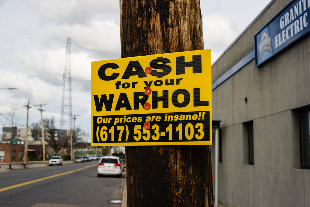 "Cash For Your Warhol - ""Crazy Eddie"""