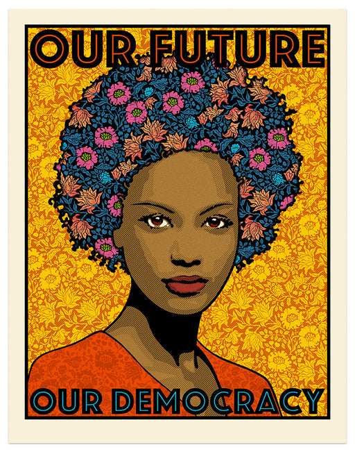 "Chuck Sperry - ""Our Future, Our Democracy"" print"
