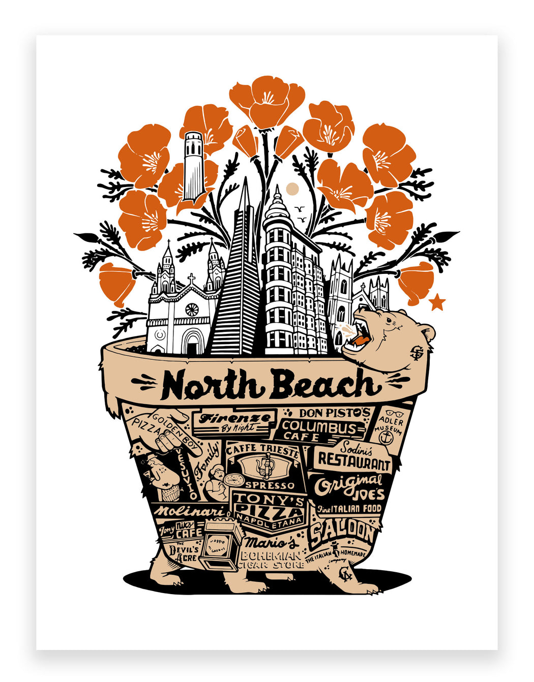 "Jeremy Fish - ""North Beach"" Print"