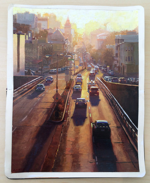 """Sunset from Broadway Tunnel"""
