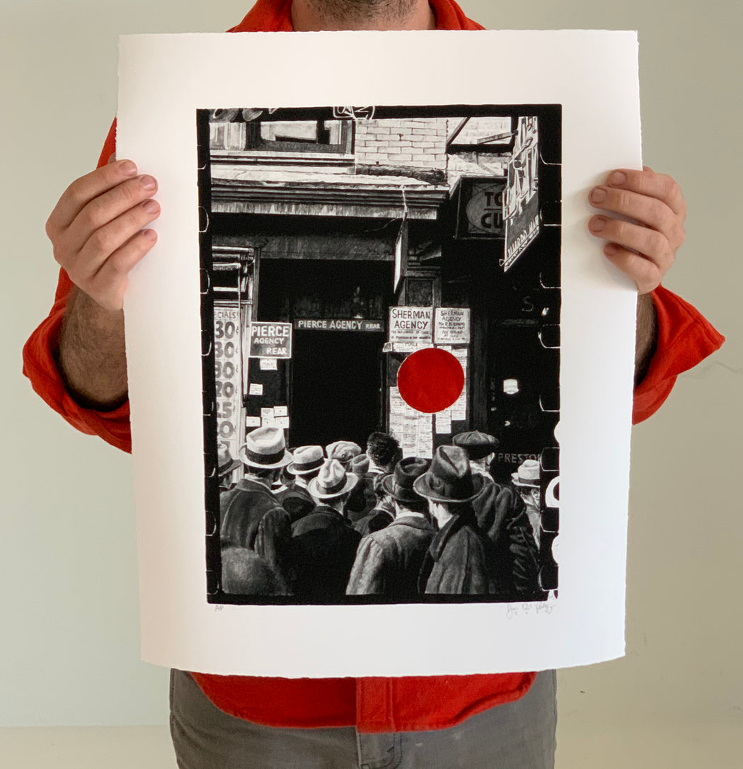 "Joel Daniel Phillips - ""Killed Negative #23 / After Arthur Rothstein"" print"