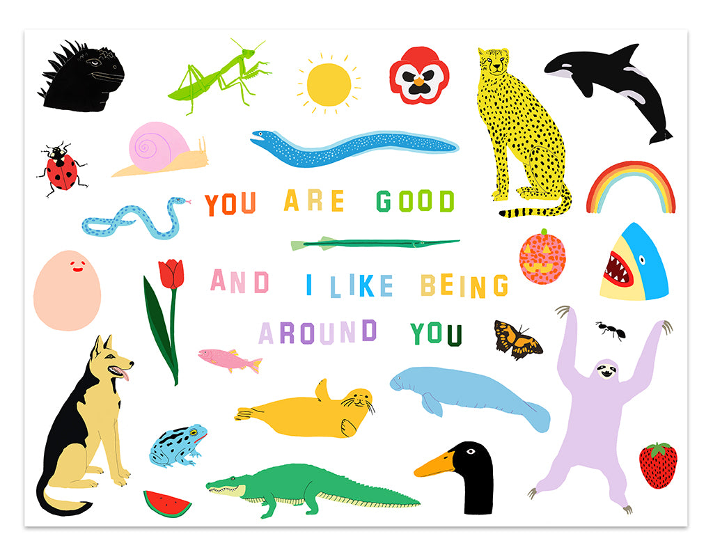 "Katie Kimmel + Lorien Stern - ""You Are Good"" print"