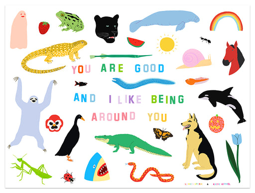 "Katie Kimmel + Lorien Stern - ""You Are Good"" variant print"