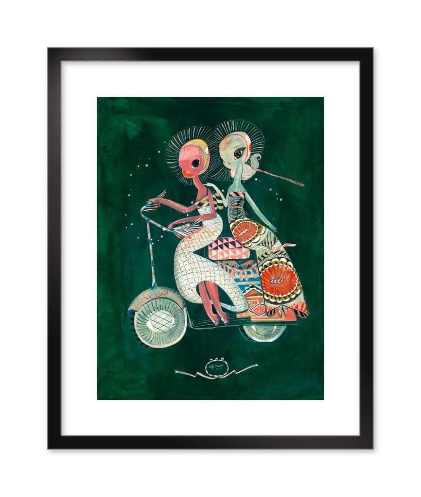 "Kelly Tunstall - ""Scoot"" print"