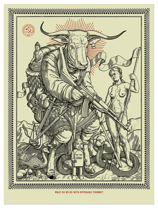 "Ravi Zupa - ""What Do We Do In 2020"" print"