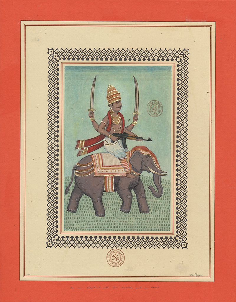 "Ravi Zupa - ""On An Elephant With The Swords An AK 47"""
