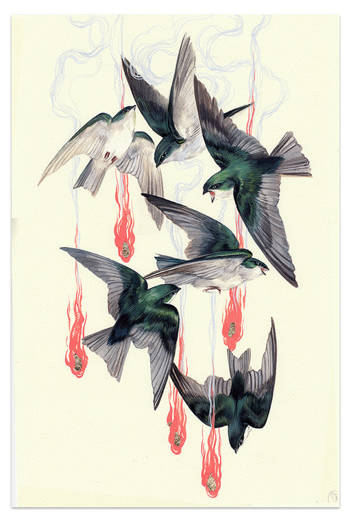 "Stephanie Brown - ""Swailing"" print"