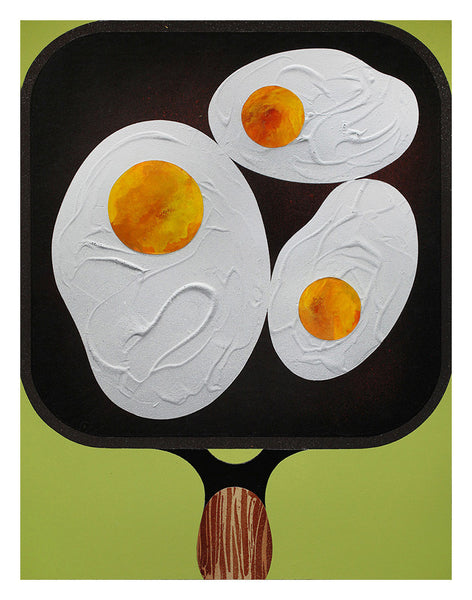 """Three Fried Eggs"""