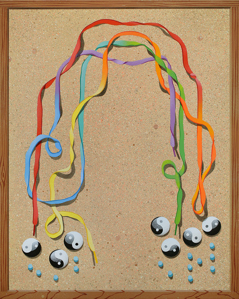 """Trompe l'oeil with Rainbow"""