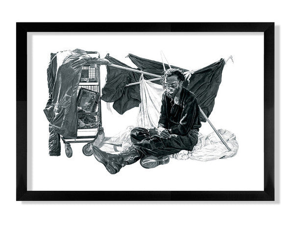 "Joel Daniel Phillips - ""Henry With a Structure"" print"