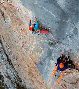two people climbing