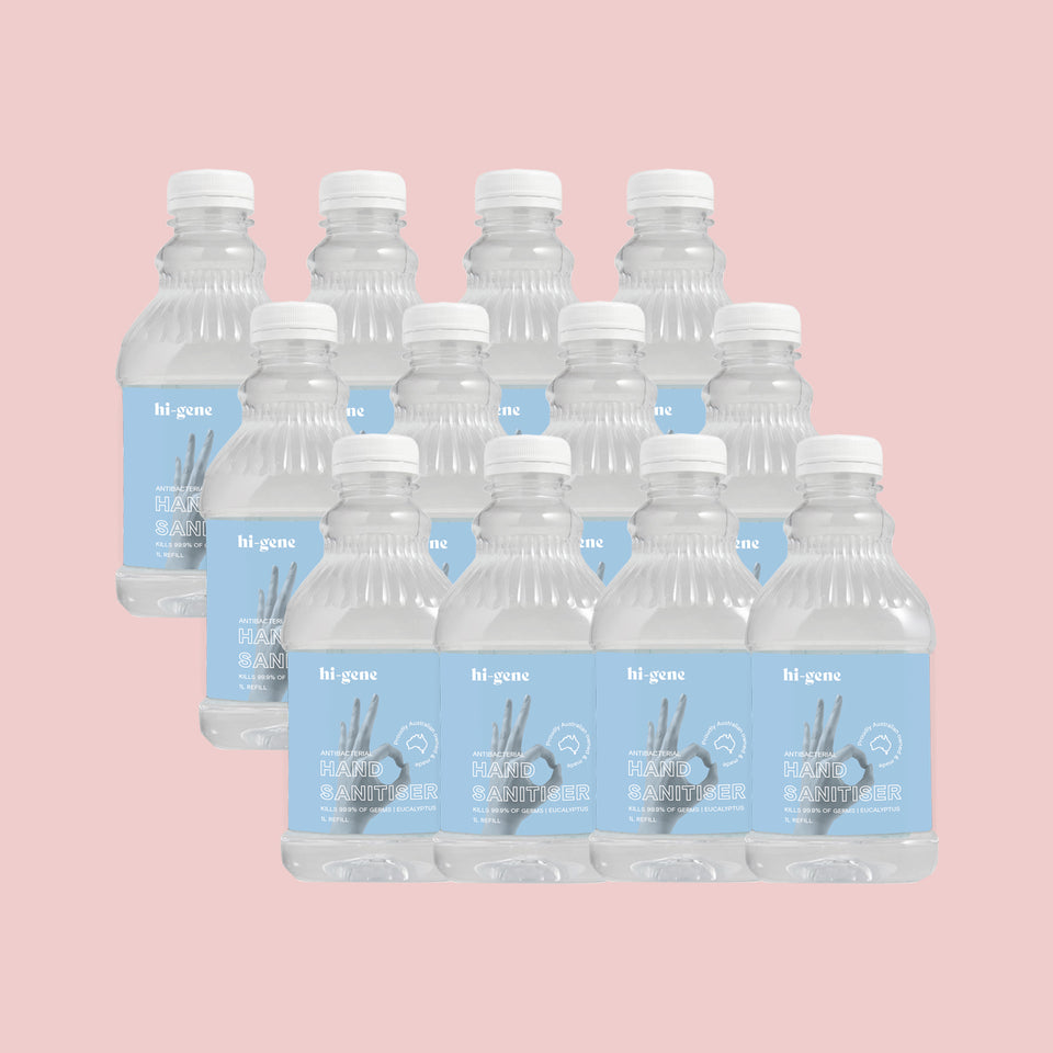1L HI-GENE Antibacterial  Hand Sanitiser (70% Alcohol) Refill Bottle