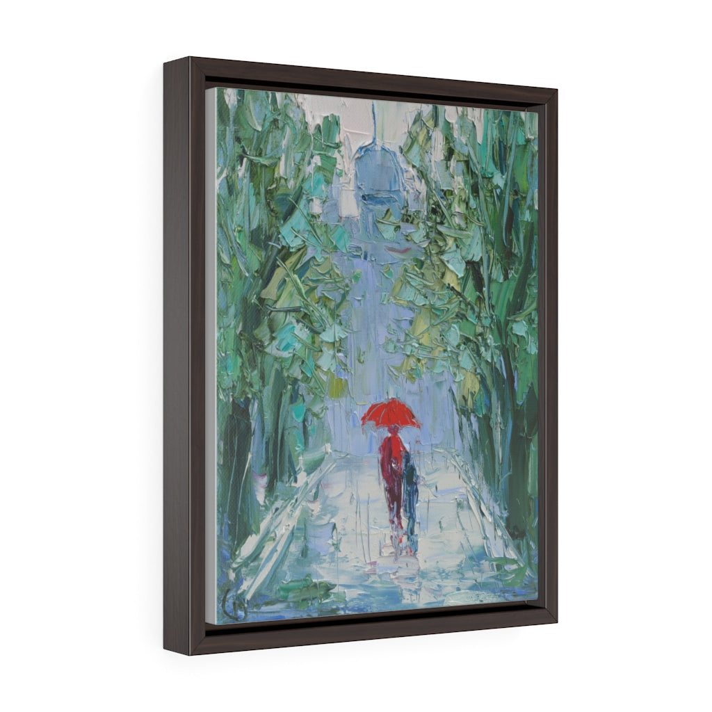 Rain (Дождь) - Framed Gallery Wrap Canvas Print