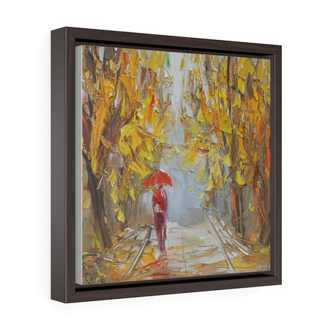 Autumn Park (Осенний Парк) - Framed Gallery Wrap Canvas Print