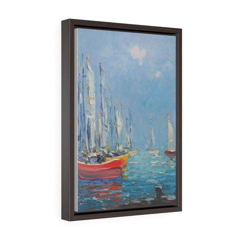 Yachts (Яхты) - Framed Gallery Wrap Canvas Print