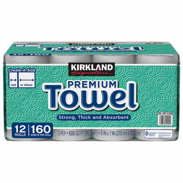 160 Sheet Paper Towel 12 Per Case