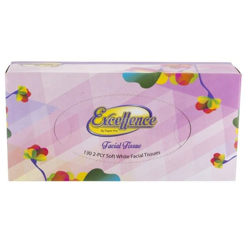 EXCELLENCE FACIAL TISSUES 2-PLY 130-PK (30/130)