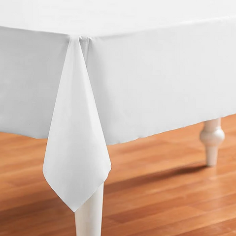 WHITE TABLE CLOTHS ROLL 36 X106 200 CT
