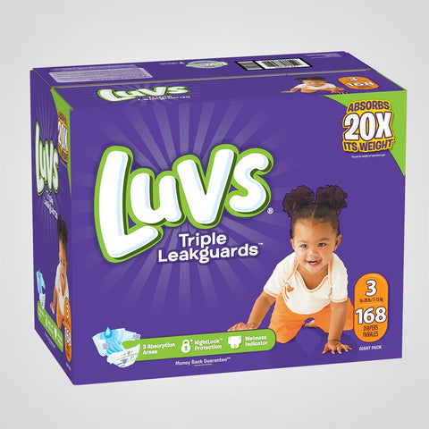 LUVS DIAPERS FAMILY PACK SIZE 3 (92/CS)