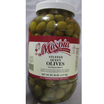1 Gal Stuffed Queen Olives 4 Per Case.