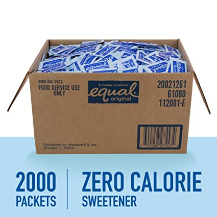 EQUAL SWEETENER PORTION CONTROLLED 2000 CT
