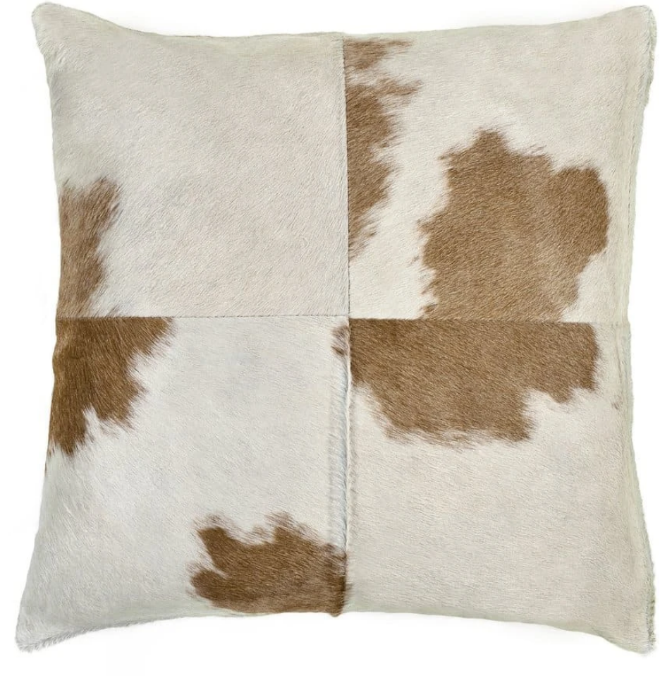 Beige and White Hide Pillow