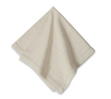 Load image into Gallery viewer, Ivory Hemstitch Napkin, Set of 6